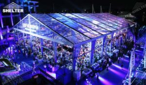 Huge Tents - wedding marquee - pavilion for luxury wedding ceremony - canopy for outdoor party - wedding on seaside - in hotel - Shelter aluminum structures for sale (122)