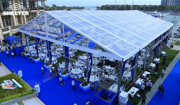 Huge Tents - wedding marquee - pavilion for luxury wedding ceremony - canopy for outdoor party - wedding on seaside - in hotel - Shelter aluminum structures for sale (124)