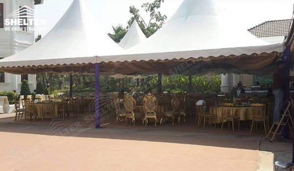 small marquees - wedding marquee - pavilion for luxury wedding ceremony - canopy for outdoor party - wedding on seaside - in hotel - Shelter aluminum structures for sale (300212)