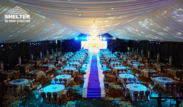 Luxury wedding tent - wedding marquee - pavilion for luxury wedding ceremony - canopy for outdoor party - wedding on seaside - in hotel - Shelter aluminum structures for sale (0217)