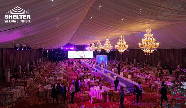 Luxury wedding tent - wedding marquee - pavilion for luxury wedding ceremony - canopy for outdoor party - wedding on seaside - in hotel - Shelter aluminum structures for sale (02170215)