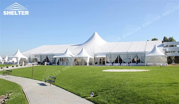 hybrid tent - wedding marquee - pavilion for luxury wedding ceremony - canopy for outdoor party - wedding on seaside - in hotel - Shelter aluminum structures for sale (227)