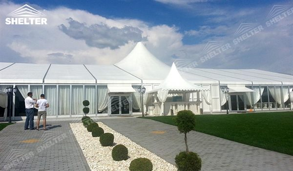 hybrid tent - wedding marquee - pavilion for luxury wedding ceremony - canopy for outdoor party - wedding on seaside - in hotel - Shelter aluminum structures for sale (235)