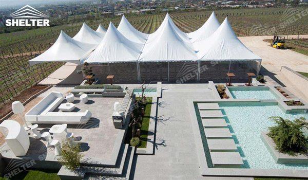 Gazebo party - High peak Gazebo canopy - wedding reception - destination wedding - hotel wedding ceremony - Shelter aluminum structures for slae (39)