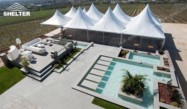 Gazebo tent - High peak Gazebo canopy - wedding reception - destination wedding - hotel wedding ceremony - Shelter aluminum structures for slae (42)