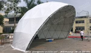Geodesic Dome - half dome tent - dome stage - stage dome tents - Amphitheater dome - geodesic dome for theater - outdoor speech dome tents - Semi-circular dome - sphere geodome (1)