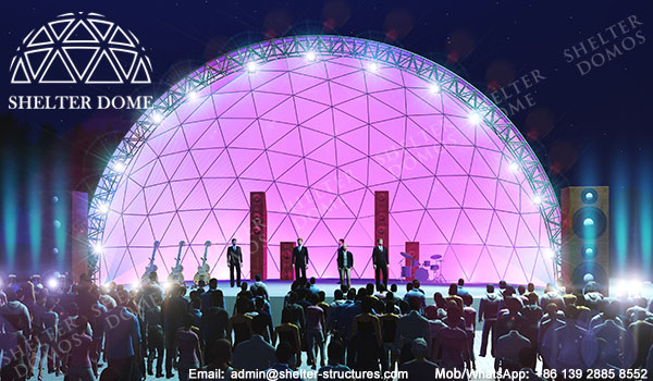 Geodesic Dome - half dome tent - dome stage - stage dome tents - Amphitheater dome - geodesic dome for theater - outdoor speech dome tents - Semi-circular dome - sphere geodome (7)