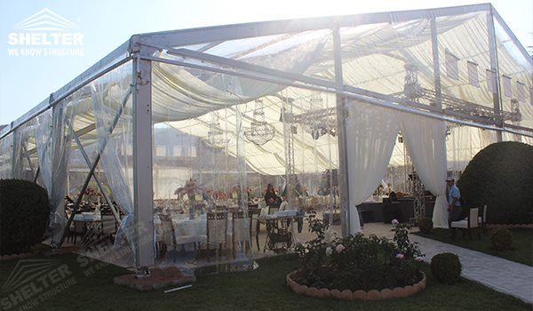 Clear Tent with 500 - wedding marquee - pavilion for luxury wedding ceremony - canopy for outdoor party - wedding on seaside - in hotel - Shelter aluminum structures for sale (293)