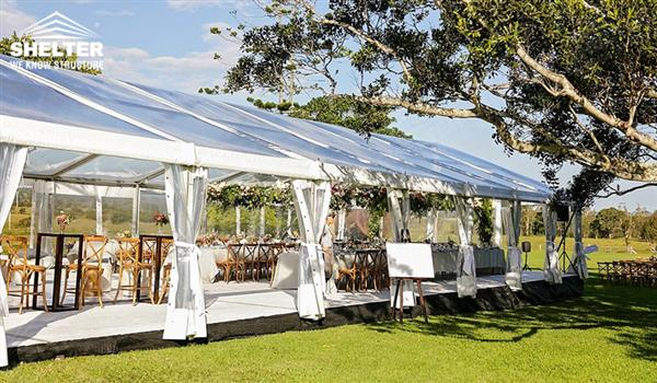 Clear Top Shelter High Peak Marquee Tent Wedding Gazebo Party Canopies Transpa Hall 00645403