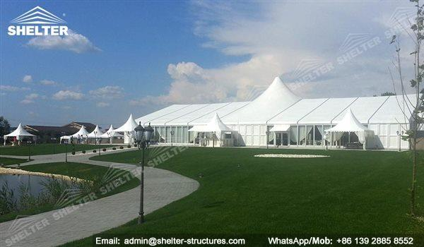clear wedding tent marquee - wedding tent hangar with decor - luxury wedding tent hall - tented reception - banquet tent hall for sale (153)