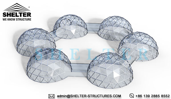 dome tent - linked dome tents - connected dome house - dome igloo connection - geodesic dome - wedding dome - geodesic dome tent - igloo tents (1)
