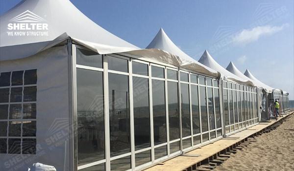 High peak Gazebo canopy - wedding reception - destination wedding - hotel wedding ceremony - Shelter aluminum structures for slae (4)