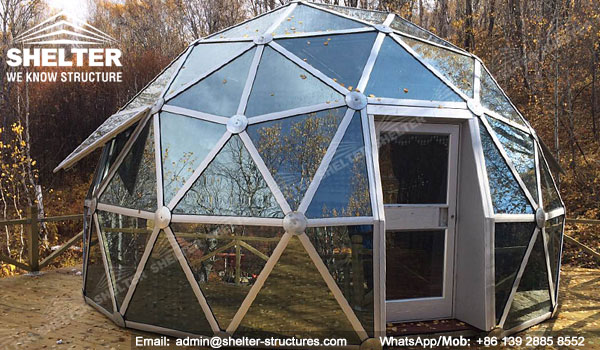Dia 6m 8m 10m Geodesic Glass Dome House For Greenhouse