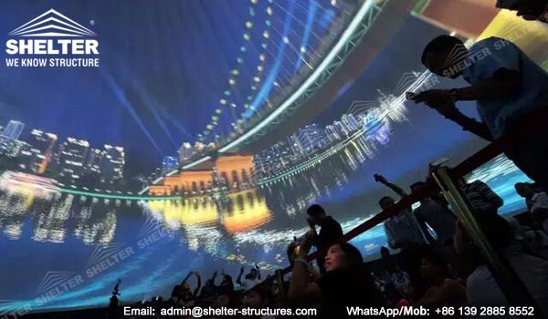 Immersive Projection Dome Cinema - Roofing structures for Amphitheater