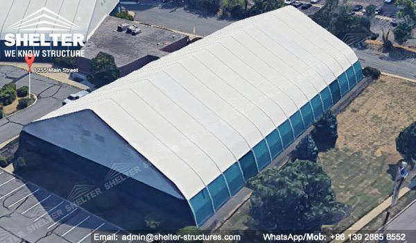 temporary sports buildings shelter tfs 35x60m sport tent football
