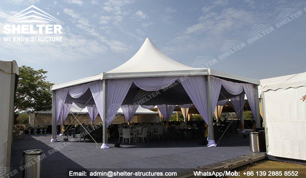 pyramid tent marquee - hexagon tent - octagon tent from chinese manufacturer - shelter multi-side tent India event tent (1)