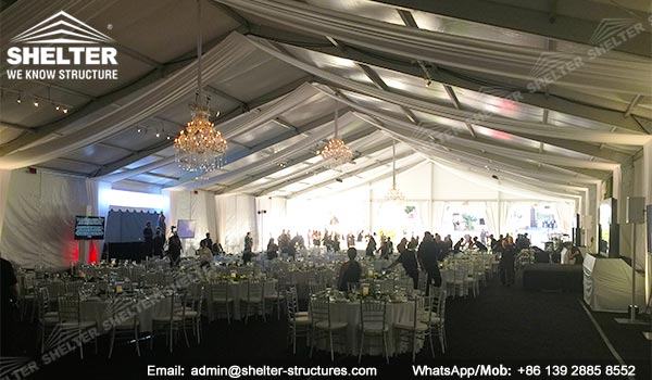 temporary banquet hall - 20 x 45m fundraising event tent - outdoor party marquee for sale (2)
