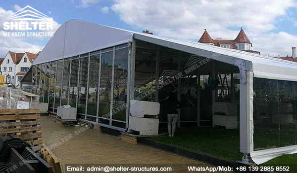 Dining Tent Marquee for Temporary Restaurant Structure & Banquet Hall - een moment met vlinders - tents structures with roof overhangs for an extra covered patio extension (7)