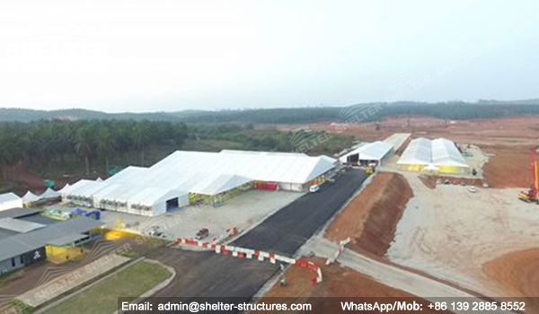 large white tent for groundbreaking celebration - corporate grand opening ceremony - Malaysia's East coast railway link (ECRL) construction tents for sale (8)