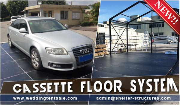 cassette flooring system - event tent flooring - wedding marquee tent floor cassette system- SHELTER clear span tents for sale