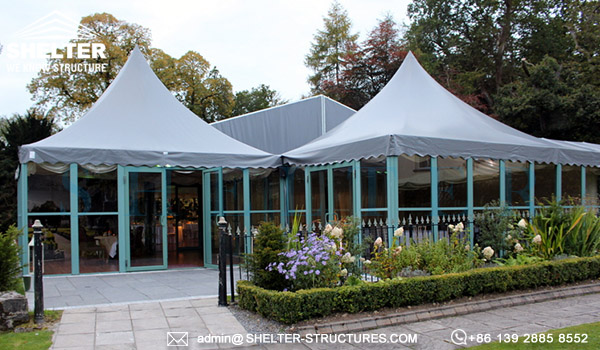 wedding canopy tents - custom designed wedding marquee for sale - clear span frame tents for party ceremony - event tent canopy with glass wall-10x10-20x20-6x6-6x9 party event tents vendor (10)