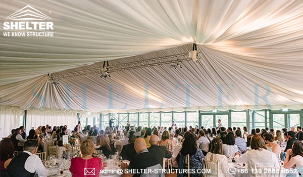 wedding canopy tents - custom designed wedding marquee for sale - clear span frame tents for party ceremony - event tent canopy with glass wall-10x10-20x20-6x6-6x9 party event tents vendor (15)