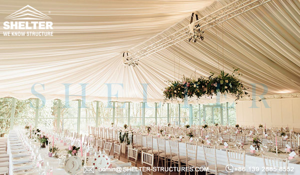 wedding canopy tents - custom designed wedding marquee for sale - clear span frame tents for party ceremony - event tent canopy with glass wall-10x10-20x20-6x6-6x9 party event tents vendor (6)