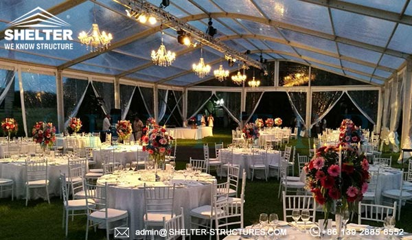 tent with clear roof - wedding marquee tent for sale - 15 by 30m clear top arch tent for wedding banquet and party gathering 1