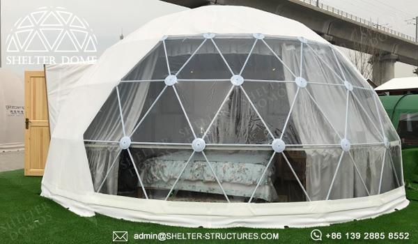 dome pod for glamping resort suite - geodesic dome igloo supplier manufacturer - dome lodge for sale (2)