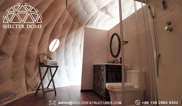 dome pod for glamping resort suite - geodesic dome igloo supplier manufacturer - dome lodge for sale (3)