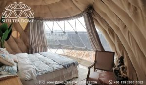 dome pod for glamping resort suite - geodesic dome igloo supplier manufacturer - dome lodge for sale (6)