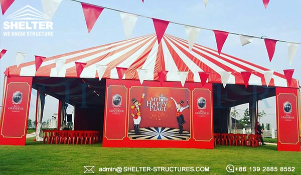 big top circus tent for sale - large modern circus marquee - heavy duty clearspan aluminum fabric frame tent (1)