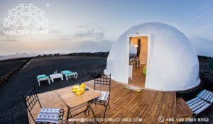 ecological dome-eco-living dome tent for sale - geodesic dome igloo for glamping eco-resort (1)