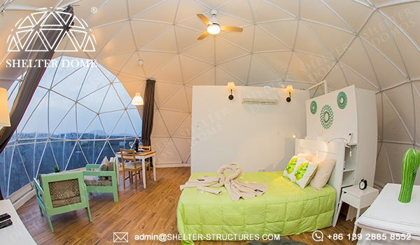 ecological dome-eco-living dome tent for sale - geodesic dome igloo for glamping eco-resort (2)