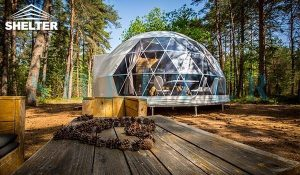 dwell dome sale - 7m (30ft) glamping dome tent - well planned interior design - with insulation and heater (3)