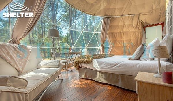 luxury glamping stay- 7m (30ft) glamping dome tent - well planned interior design - with insulation and heater (8)