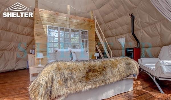 38sqm (409 sq.ft) glamping dome tent for sale - well planned interior design - with insulation and heater (9)